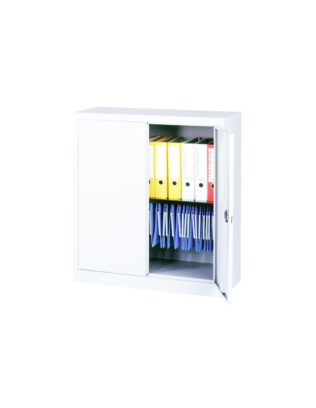 Armario de puertas abatibles con 1 estante la oficina online - Armarios con puertas abatibles ...