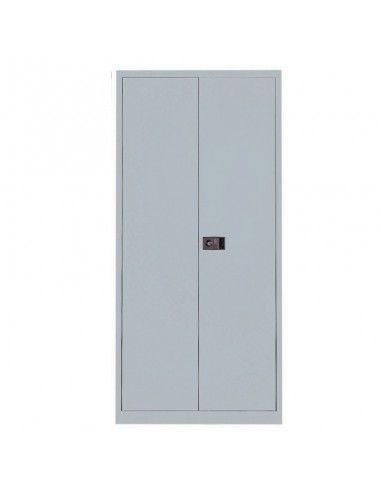 Armario metálico puertas abatibles con 3 estantes de Gapsa en gris claro