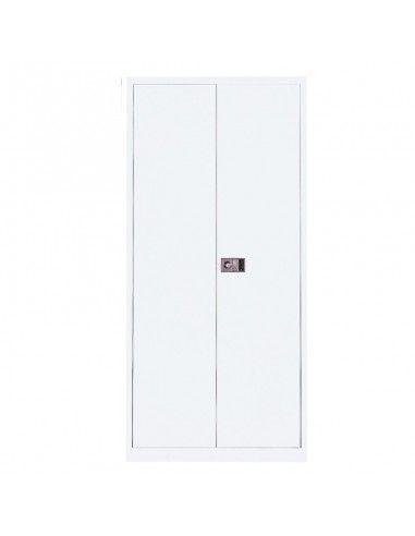 Armario metálico puertas abatibles con 3 estantes de Gapsa en super blanco
