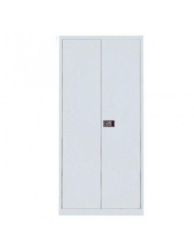 Armario metálico puertas abatibles con 3 estantes de Gapsa en blanco