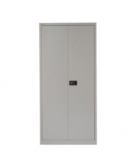 Armario oficina metálico de puertas abatibles con 4 estantes de Gapsa en color gris