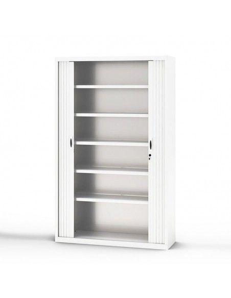 Armario oficina persiana vertical de Gapsa en blanco