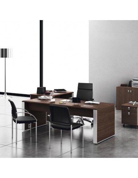 Mesa despacho serie Líder de JGorbe en nogal oscuro