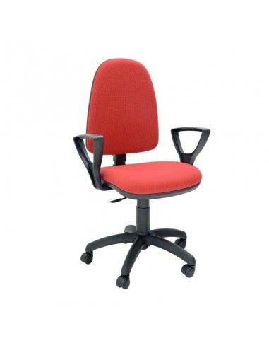 Silla oficina barata OCP de Tecno-Ofiss en color rojo