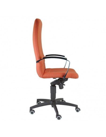 Silla despacho Confort de Tecno-Ofiss en polipiel roja