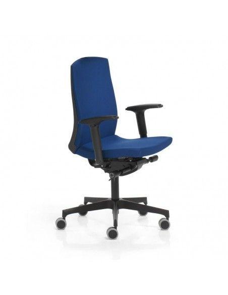 Silla oficina con respaldo alto Flexa de Dileoffice en azul