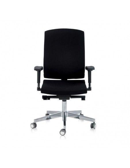 Silla oficina con respaldo alto Flexa de Dileoffice en negro