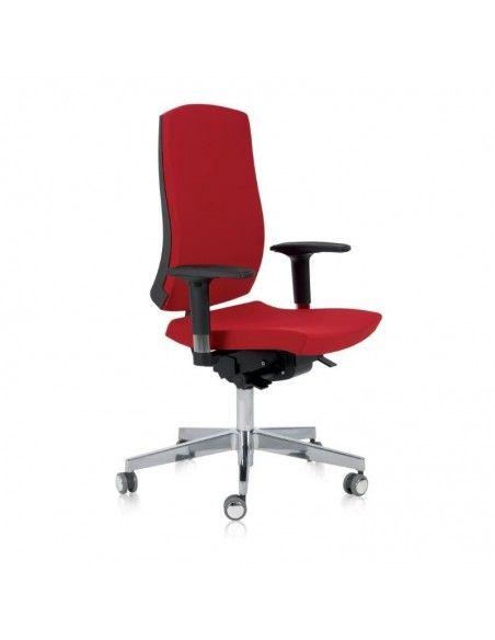 Silla oficina con respaldo alto Flexa de Dileoffice en rojo