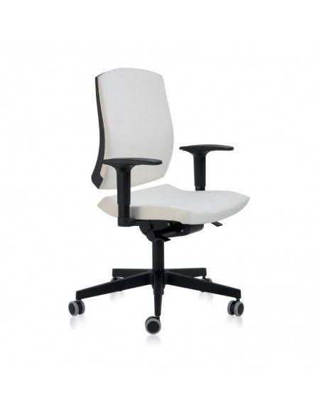 Silla oficina con respaldo alto Flexa de Dileoffice en blanco