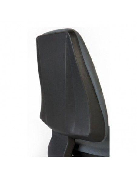 Detalle respaldo silla confidente Adapta de Dileoffice en negro