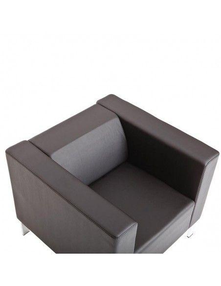 Butaca oficina 1 plaza Quatro de Dileoffice en polipiel negro