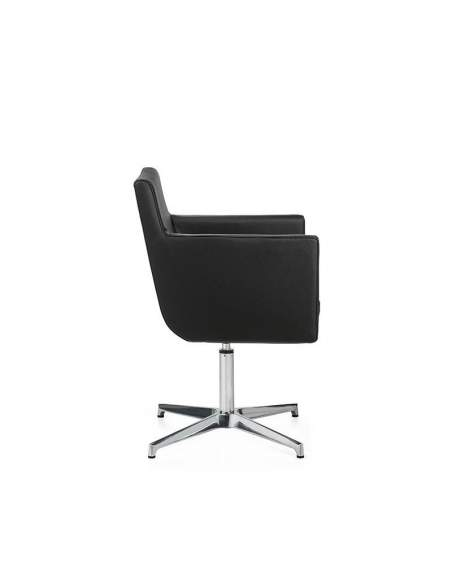 Sillon oficina Brooklyn de Dileoffice en polipiel negra
