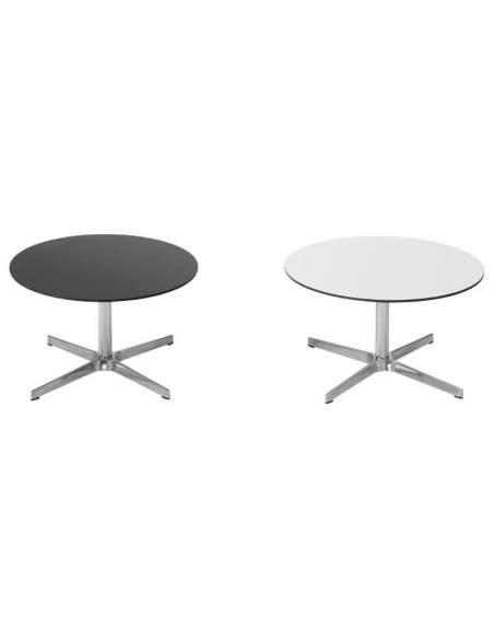 Mesas de centro negras y blancas