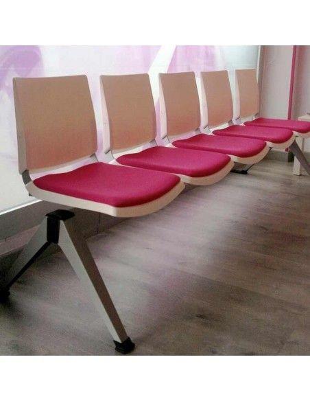 Bancada oficina sala de espera Atenea de Dileoffice con asiento tapizado