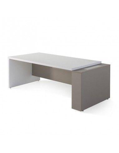 Mesa despacho G3 de JGorbe en blanco y arena