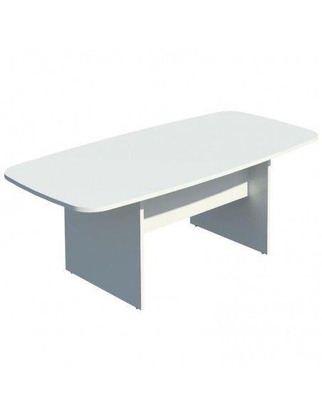 Mesa de reuniones rectangular de JGorbe en blanco