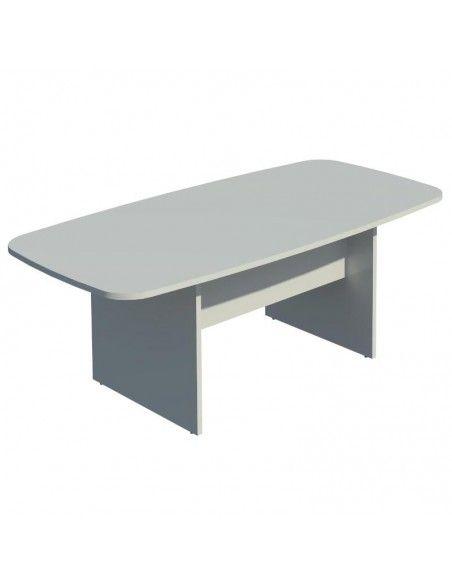 Mesa de reuniones rectangular de JGorbe en gris claro