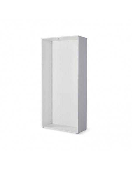 Estructura armario oficina con estantes de JGorbe en color blanco