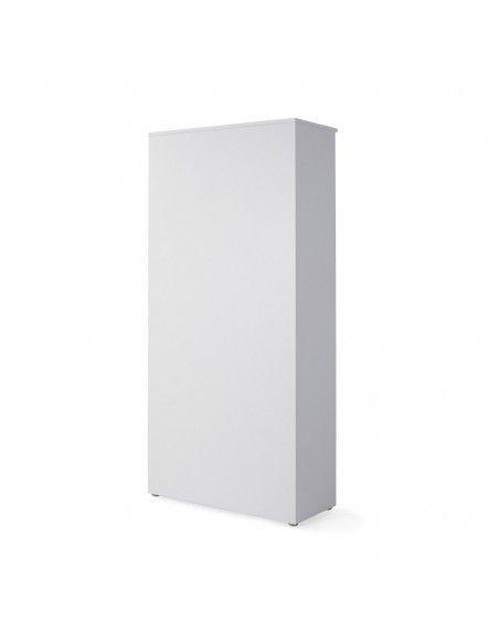 vista trasera armario oficina madera color blanco de jgorbe