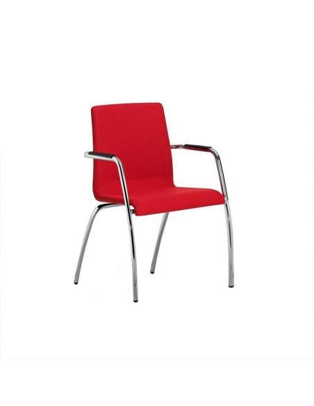 Silla confidente Custom de dileoffice en color rojo