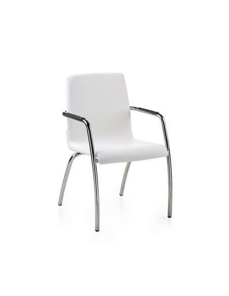 Silla confidente Custom de dileoffice en color blanco