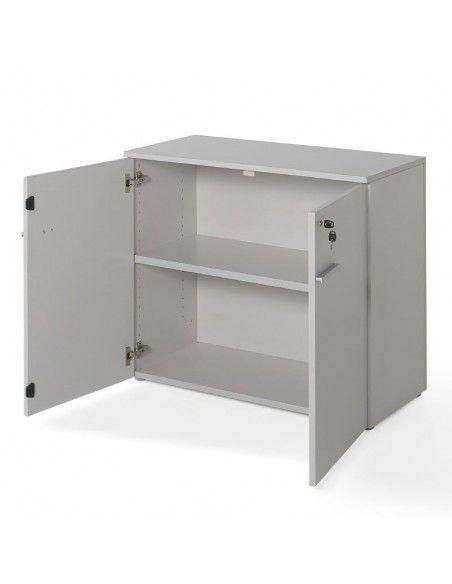 Armario oficina con puertas y cerradura en color gris de JGorbe