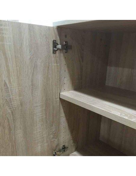 detalle interior armario de madera bajo color nebraska de jgorbe.