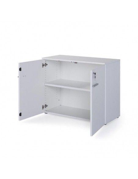 Armario oficina con puertas y cerradura en color blanco de JGorbe