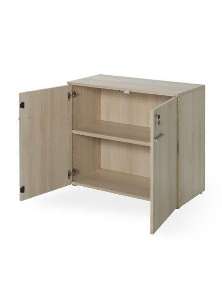 Armario oficina con puertas y cerradura en color acacia de JGorbe