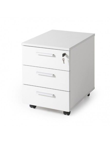 Cajonera escritorio de 3 cajones de JGorbe en blanco