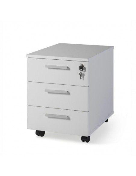 Cajonera escritorio de 3 cajones de JGorbe en gris claro