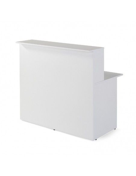 Mostrador recepcion blanco Basic de JGorbe en 120 cm. ancho