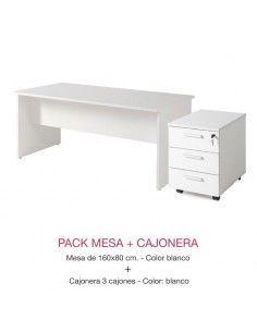 Oferta muebles oficina mesa escritorio y cajonera