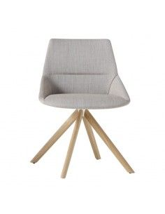 Silla confidente Dunas XS de Inclass con base madera