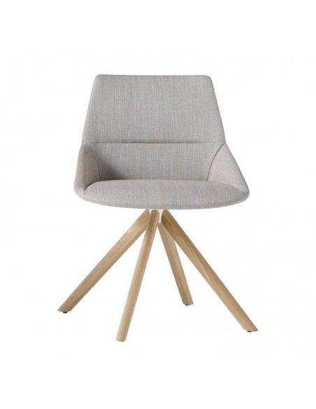 Silla confidente Dunas XS de Inclass con base madera