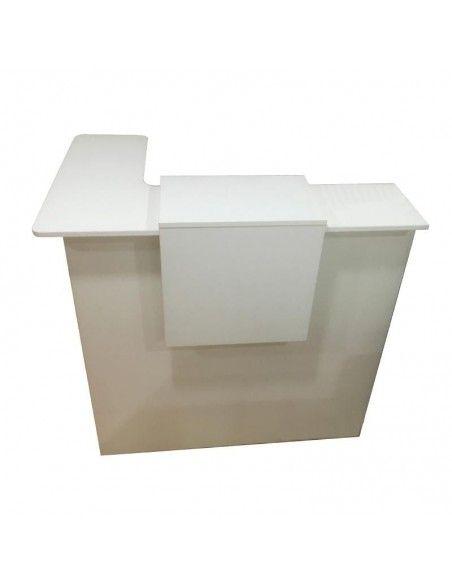 Mostrador recepcion blanco Basic para esquina de JGorbe en blanco