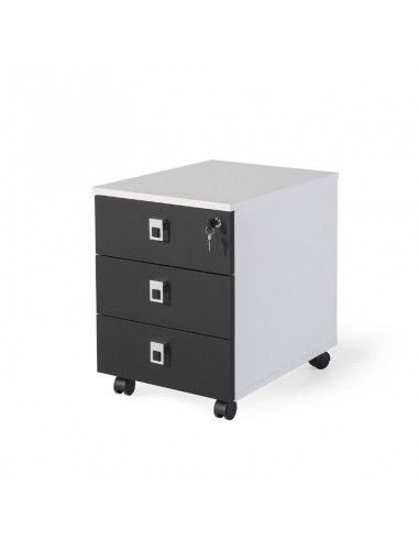 Cajonera oficina 3 cajones serie G3 de jgorbe en blanco y negro