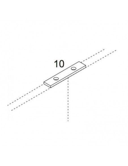 Pletina para unir 2 paneles de biombo separador de JGorbe