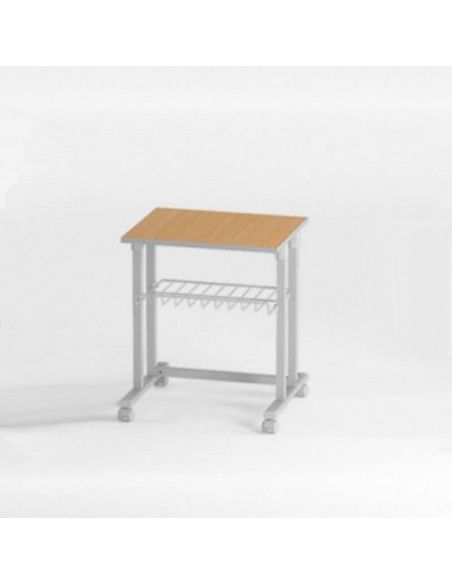 Mesa auxiliar para impresora de systemtronic en color madera