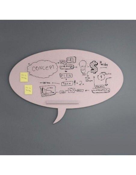 Pizarra oficina Skin Talk de Rocada en rosa