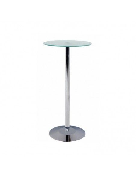 Mesa alta de cristal para sillas altas de Rocada