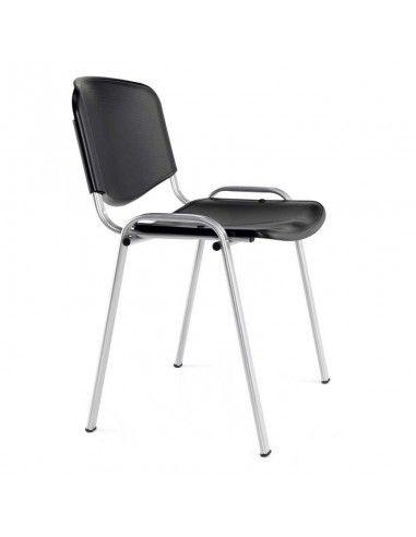 Silla escritorio sin ruedas modelo Xauen de pvc.