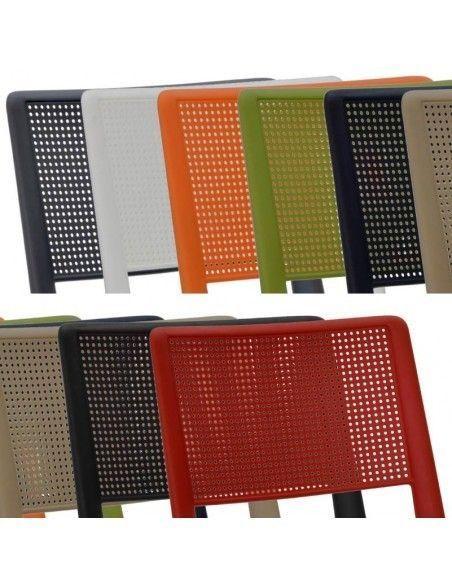 Sillas confidente en varios colores de plastico Track de Tecno ofiss