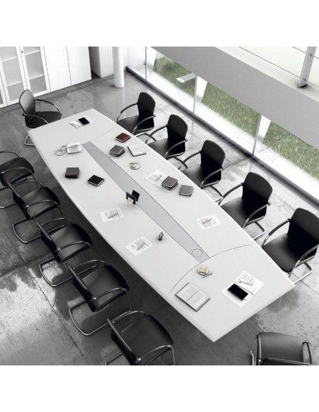 mesa salas de juntas oficina con electrificación lider jgorbe