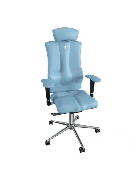 silla ergonómica con cabezal ajustable polipiel azul claro de kulik system