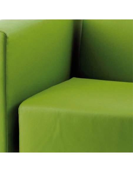 Butaca oficina 1 plaza Zen de Intacor en verde