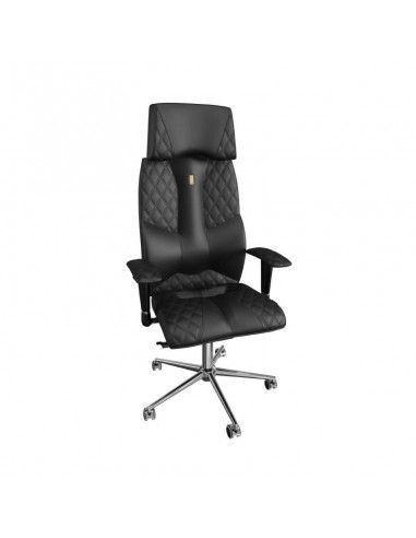 Silla ergonomica con reposacabezas Business de kulik system en polipiel negra