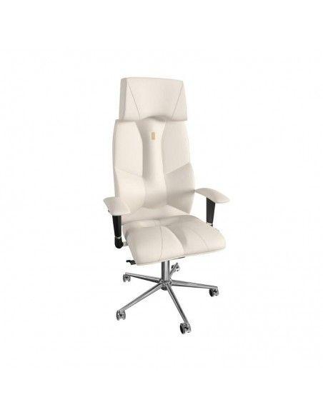 Silla ergonomica Business de kulik system en polipiel blanca