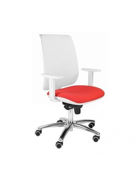 Silla oficina blanca con brazos Aida de tecno ofiss