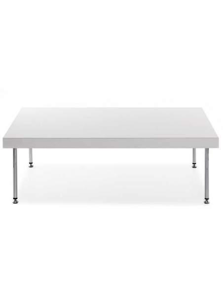 Mesa baja rectangular Steel de Tecno-Ofiss en blanco